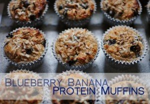 guilt free blueberry protein muffins